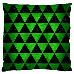Triangle3 Black Marble & Green Brushed Metal Standard Flano Cushion Case (two Sides)