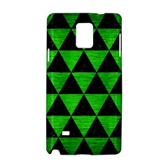 Triangle3 Black Marble & Green Brushed Metal Samsung Galaxy Note 4 Hardshell Case