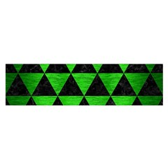Triangle3 Black Marble & Green Brushed Metal Satin Scarf (oblong)
