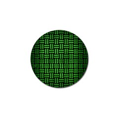 Woven1 Black Marble & Green Brushed Metal Golf Ball Marker (4 Pack)