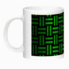 Woven1 Black Marble & Green Brushed Metal Night Luminous Mugs