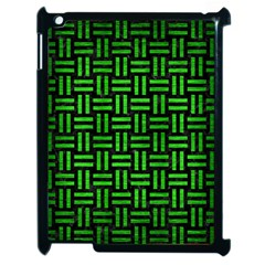 Woven1 Black Marble & Green Brushed Metal Apple Ipad 2 Case (black)