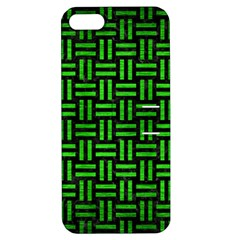 Woven1 Black Marble & Green Brushed Metal Apple Iphone 5 Hardshell Case With Stand