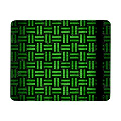 Woven1 Black Marble & Green Brushed Metal Samsung Galaxy Tab Pro 8 4  Flip Case