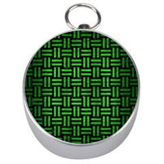 Woven1 Black Marble & Green Brushed Metal Silver Compasses