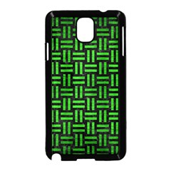 Woven1 Black Marble & Green Brushed Metal Samsung Galaxy Note 3 Neo Hardshell Case (black)