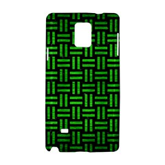 Woven1 Black Marble & Green Brushed Metal Samsung Galaxy Note 4 Hardshell Case