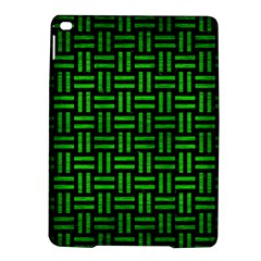 Woven1 Black Marble & Green Brushed Metal Ipad Air 2 Hardshell Cases