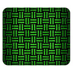 Woven1 Black Marble & Green Brushed Metal Double Sided Flano Blanket (small)