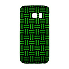 Woven1 Black Marble & Green Brushed Metal Galaxy S6 Edge