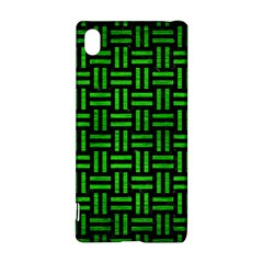 Woven1 Black Marble & Green Brushed Metal Sony Xperia Z3+