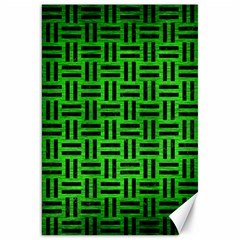 Woven1 Black Marble & Green Brushed Metal (r) Canvas 20  X 30