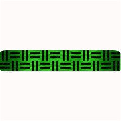 Woven1 Black Marble & Green Brushed Metal (r) Small Bar Mats