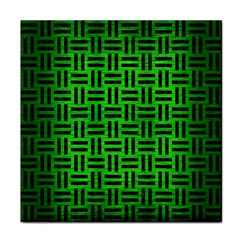 Woven1 Black Marble & Green Brushed Metal (r) Face Towel