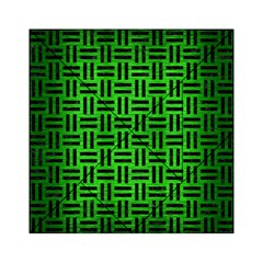 Woven1 Black Marble & Green Brushed Metal (r) Acrylic Tangram Puzzle (6  X 6 )