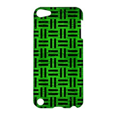 Woven1 Black Marble & Green Brushed Metal (r) Apple Ipod Touch 5 Hardshell Case
