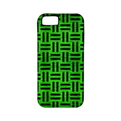 Woven1 Black Marble & Green Brushed Metal (r) Apple Iphone 5 Classic Hardshell Case (pc+silicone)