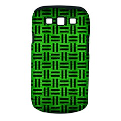 Woven1 Black Marble & Green Brushed Metal (r) Samsung Galaxy S Iii Classic Hardshell Case (pc+silicone)