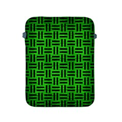 Woven1 Black Marble & Green Brushed Metal (r) Apple Ipad 2/3/4 Protective Soft Cases