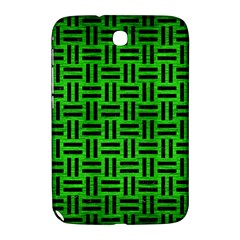 Woven1 Black Marble & Green Brushed Metal (r) Samsung Galaxy Note 8 0 N5100 Hardshell Case