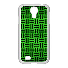 Woven1 Black Marble & Green Brushed Metal (r) Samsung Galaxy S4 I9500/ I9505 Case (white)