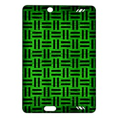 Woven1 Black Marble & Green Brushed Metal (r) Amazon Kindle Fire Hd (2013) Hardshell Case