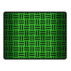 Woven1 Black Marble & Green Brushed Metal (r) Double Sided Fleece Blanket (small)