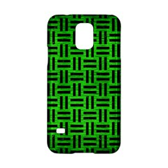 Woven1 Black Marble & Green Brushed Metal (r) Samsung Galaxy S5 Hardshell Case