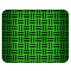 Woven1 Black Marble & Green Brushed Metal (r) Double Sided Flano Blanket (medium)
