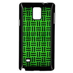 Woven1 Black Marble & Green Brushed Metal (r) Samsung Galaxy Note 4 Case (black)