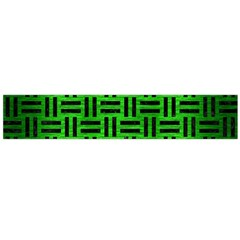 Woven1 Black Marble & Green Brushed Metal (r) Flano Scarf (large)