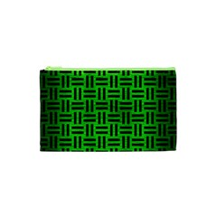 Woven1 Black Marble & Green Brushed Metal (r) Cosmetic Bag (xs)