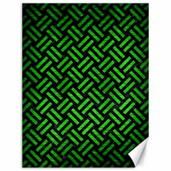 Woven2 Black Marble & Green Brushed Metal Canvas 12  X 16
