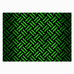 Woven2 Black Marble & Green Brushed Metal Large Glasses Cloth