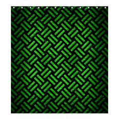 Woven2 Black Marble & Green Brushed Metal Shower Curtain 66  X 72  (large)