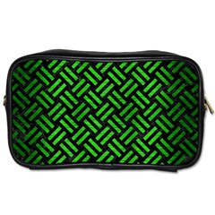 Woven2 Black Marble & Green Brushed Metal Toiletries Bags
