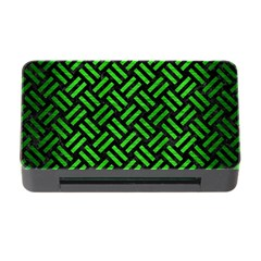 Woven2 Black Marble & Green Brushed Metal Memory Card Reader With Cf