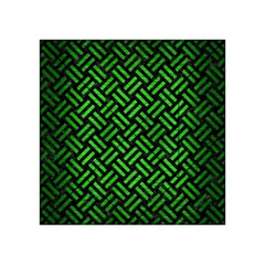 Woven2 Black Marble & Green Brushed Metal Acrylic Tangram Puzzle (4  X 4 )