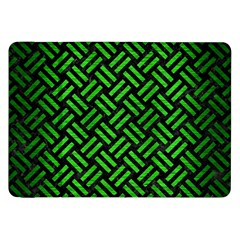 Woven2 Black Marble & Green Brushed Metal Samsung Galaxy Tab 8 9  P7300 Flip Case
