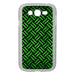 Woven2 Black Marble & Green Brushed Metal Samsung Galaxy Grand Duos I9082 Case (white)