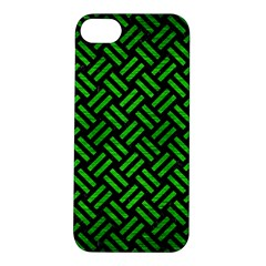 Woven2 Black Marble & Green Brushed Metal Apple Iphone 5s/ Se Hardshell Case