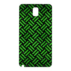 Woven2 Black Marble & Green Brushed Metal Samsung Galaxy Note 3 N9005 Hardshell Back Case