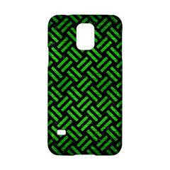 Woven2 Black Marble & Green Brushed Metal Samsung Galaxy S5 Hardshell Case
