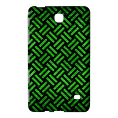 Woven2 Black Marble & Green Brushed Metal Samsung Galaxy Tab 4 (7 ) Hardshell Case