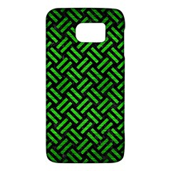 Woven2 Black Marble & Green Brushed Metal Galaxy S6