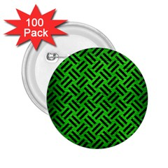 Woven2 Black Marble & Green Brushed Metal (r) 2 25  Buttons (100 Pack)