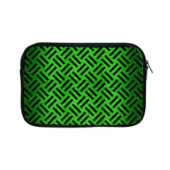 Woven2 Black Marble & Green Brushed Metal (r) Apple Ipad Mini Zipper Cases