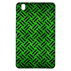 Woven2 Black Marble & Green Brushed Metal (r) Samsung Galaxy Tab Pro 8 4 Hardshell Case