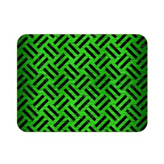 Woven2 Black Marble & Green Brushed Metal (r) Double Sided Flano Blanket (mini)