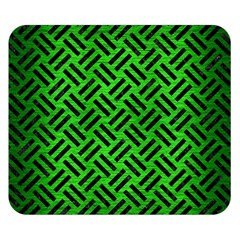 Woven2 Black Marble & Green Brushed Metal (r) Double Sided Flano Blanket (small)